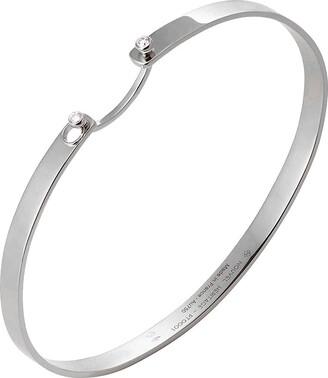 Nouvel Heritage 17cm Monday Morning Mood White Gold Bangle Bracelet