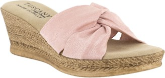 Easy Street Shoes Tuscany by Twist Fabric Wedge Sandals - Dinah