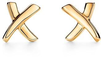 Tiffany & Co. Paloma's Graffiti X earrings in 18ct gold, mini