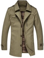 URBANFIND Men's Regular Fit Epaulet Shoulder Thin Trench Coats