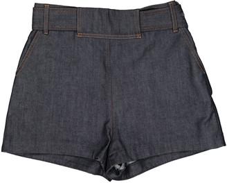 Balenciaga Navy Cotton - elasthane Shorts