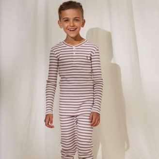 The White Company Stripe Soldier Pyjamas (1-12yrs), Red Stripe, 2-3yrs