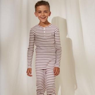 The White Company Stripe Soldier Pyjamas (1-12yrs), Red Stripe, 7-8yrs