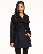 Le Château Wool Blend Melton Wrap Coat