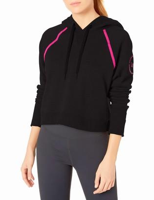 Calvin Klein Women's Logo Long Sleeve Raglan Crop Pullover Hoodie Hooded Sweatshirt