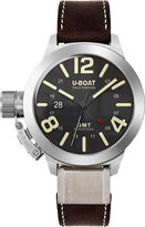U-boat 8050 Classico Black Round Brown Strap Watch