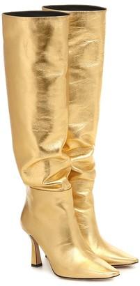 Wandler Lina metallic leather boots