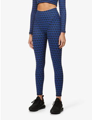 Adam Selman Sport French Cut graphic-pattern high-rise stretch-jersey leggings