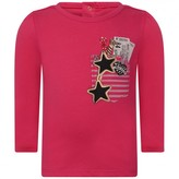 Little Marc Jacobs Little Marc JacobsBaby Girls Fuchsia Pocket Print Top