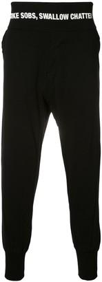 Niløs drop crotch track trousers