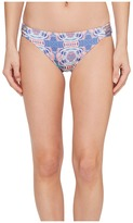 Roxy Printed Strappy Love Reversible 70's Bikini Bottom Women's Swimwear
