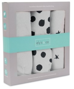 Ely's & Co. Baby Girls Adjustable Swaddle Large 3 Pack