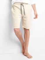 French terry drawstring shorts