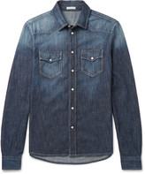 Tomas Maier - Slim-fit Washed-denim Western Shirt