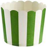 Container Store Large Baking Cups Awning Stripe Green Pkg/20