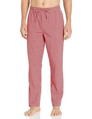Goodthreads Stretch Poplin Pajama Pant Casual, Navy Gold Oversized Glen Plaid, XXL