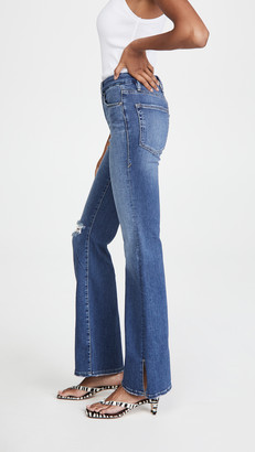 Good American Good Flare With Split Hem Jeans
