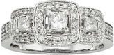 JCPenney MODERN BRIDE 1 CT. T.W. Certified Diamond 14K White Gold 3-Stone Bridal Ring