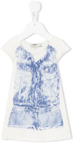 Junior Gaultier trompe l'oleil Mini Me dress - kids - Cotton/Spandex/Elastane - 12 mth