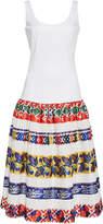 Stella Jean Lace-Trimmed Stretch-Cotton Dress
