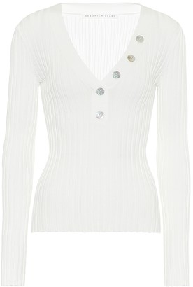 Veronica Beard Juliana ribbed-knit sweater