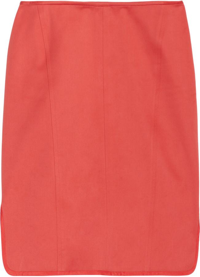 Reed Krakoff Cotton-sateen skirt