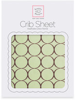 Swaddle Designs Flannel Fitted Crib Sheet With Brown Mod Circles