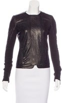 J Brand Leather Textured Jacket