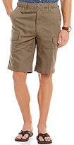 Roundtree & Yorke Big & Tall Linen/Cotton Blend Cargo Shorts