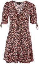 Topshop PETITE Ruched Ditsy Tea Dress