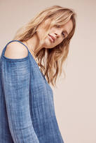 Cloth & Stone Open-Shoulder Chambray Shift