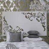 Large Fleur Pattern Wall Art - White
