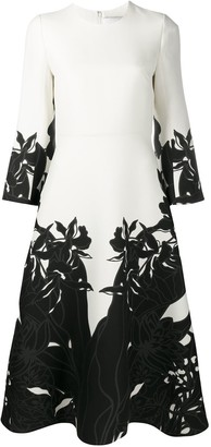 Valentino Orchid Ramage print dress
