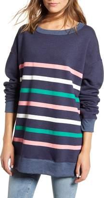 Wildfox Couture Multicolor Stripe Roadtrip Cotton Blend Sweatshirt