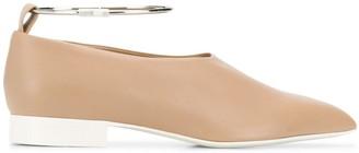 Jil Sander Pointy Anklet Loafers