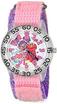 EWatchFactory Girl's 'Sesame Street' Quartz Plastic and Nylon Watch, Color:Pink (Model: W003196)