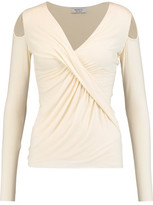 Bailey 44 Angela Draped Stretch-Jersey Top