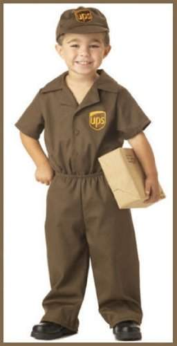California Costumes Toddler4-6 - Miniature UPS Driver Costume (Package not included)