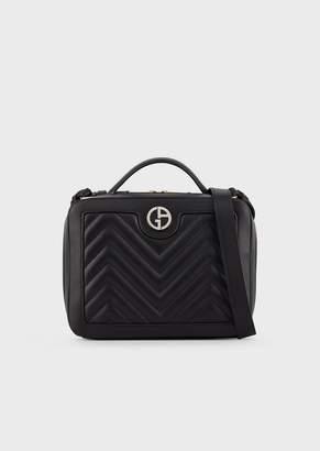 Giorgio Armani Shoulder Bag With Enamelled Logo