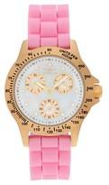 Invicta Women's 21982 Speedway Quartz Chronograph White Dial Strap Watch - Pink
