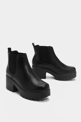 Nasty Gal Womens Roll With It Platform Ankle Boot - Black