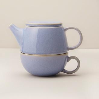 Indigo Cornflower Luster Ceramic Tea For One