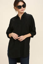 Do & Be Back to Basics Black Button-Up Top