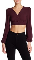 Flynn Skye That's a Wrap Crop Blouse