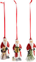 Villeroy & Boch Nostalgic Santa 3-Pc. Ornament Set