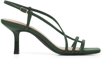 Forever New Bryn Side Detail Heels - Dark Green - 36