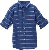 U.S. Polo Assn. Classic Navy Stripe Button-Up - Boys