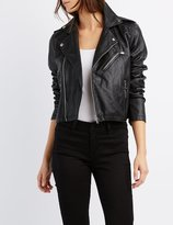 Charlotte Russe Cropped Faux Leather Jacket