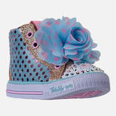 Skechers Girls' Toddler Twinkle Toes: Shuffles - Flower Fun Light-Up Casual Shoes