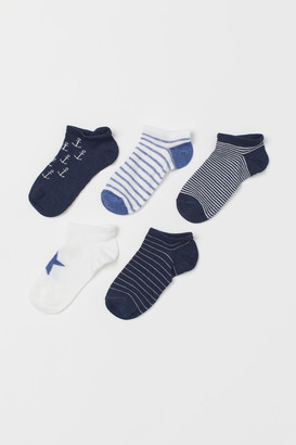 H&M 5-pack Ankle Socks - Blue